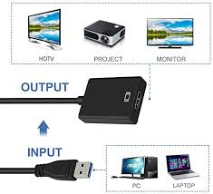 USB to <b>HDMI</b> Adapter, USB 3.0 to <b>HDMI</b>, <b>HD</b> 1080P <b>Video</b> Graphics ...