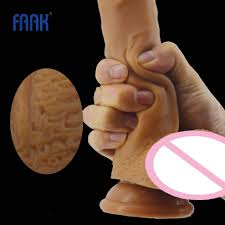 <b>FAAK double</b> layer silicone <b>realistic dildo</b> male penis skin touch big ...