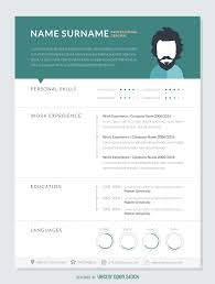 professional resume mockup template   free vectorprofessional resume mockup template