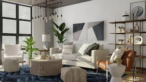 Modern Industrial Living Room   <b>Modern</b>-<b>Style Living Room</b> Design ...