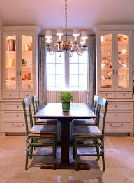 kitchen display cabinets dining room farmhouse with bench built in storage cabinets cabinet accent lighting
