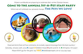 sit a pet inc staff parties invitation