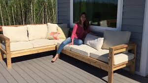 how to build a 2x4 outdoor sectional tutorial youtube build patio furniture