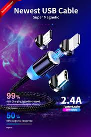 <b>OLAF 3A Magnetic</b> Cable phone charging cord Micro USB Cable ...