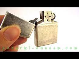 <b>Зажигалка Zippo</b> 121FB <b>Antique Silver</b> Plate (Видео обзор) podarki ...