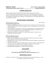 entry level resume objective examples entry level sample resume 10 resume example entry level