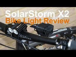 Solarstorm X2 bike light review - YouTube
