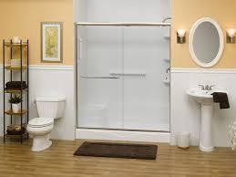 glass shower tub