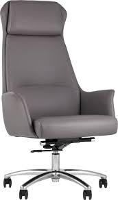 <b>Кресло руководителя TopChairs</b> Viking серый/хром купить за 27990
