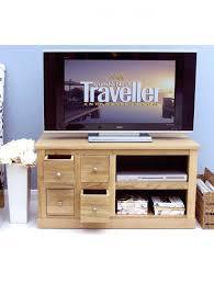 baumhaus mobel oak four drawer tv cabinet cor09a enlarged view baumhaus mobel solid oak drawer