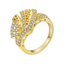 Buy <b>Fashion</b> Women <b>Hollowed</b> Geometric Ring <b>Zircon</b> Knuckle ...
