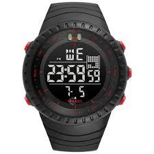 SMAEL 1237 <b>Fashion</b> Multi-function Silicone Band <b>Sport LED</b> Watch
