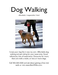 Flyers Examples. graphic design flyer example. dog-walking flyers ... Dog-Walking Flyers