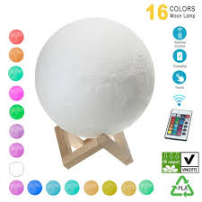 Generic Moon Lamp <b>Hanging</b> 3D Printing Moon Light LED <b>16 Colors</b>