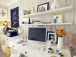 shabby chic home office design with white theme workspace with white work desk and white table awesome inspirational office pictures full size