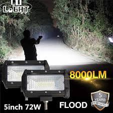 CO LIGHT <b>Led</b> Work Light Bar 5'' <b>72W</b> Spot <b>Led</b> Beams Auto Car ...