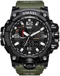 <b>SMAEL Men's</b> Analog Digtal Sport Watch Dual <b>Quartz</b> Movement ...