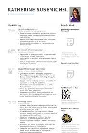 digital marketing intern resume samples marketing internship resume samples