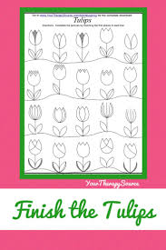 best images about handwriting handwriting share here is a spring time bie to practice visual motor skills and attention to detail this tulip picture it at the complete