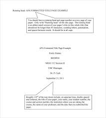 Purdue Owl: Apa Formatting And Style Guide. Apa Format Title Page ... Sample APA Format Title Page Template - 6+ Free Documents in PDF, Word