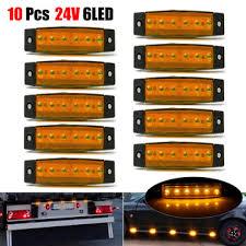 10pcs Yellow Car External Lights LED 24V 6 SMD Auto Bus Truck ...