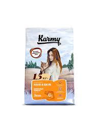 <b>Корм</b> для для взрослых кошек, <b>Karmy Hair</b> & Skin, в возрасте ...