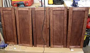 Diy Staining Kitchen Cabinets Epbot Diy Vintage Rustic Cabinet Doors