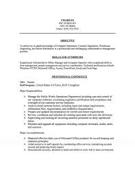 management computer operations resume administrative management computer operations resume