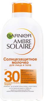 "Garnier <b>Солнцезащитное молочко для</b> лица и тела ""Ambre ..."