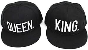 D-Sun King and Queen Snapback Pair <b>Fashion Embroidered</b> ...