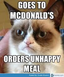 Mc Donalds Happy meal becomes Unhappy Meal in General Memes ... via Relatably.com