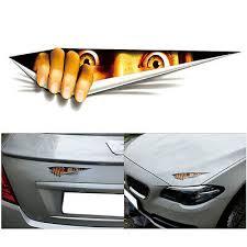 <b>Funny</b> Peeking <b>3D Big</b> Cat Eyes For Car Bumper Window Vinyl ...