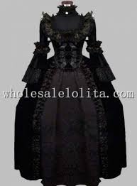 <b>Luxury</b> Gothic <b>Black</b> 19th Century Victorian Themed Costume ...