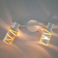 <b>Белый</b> настенный светильник <b>спот</b> с поворотными плафонами ...