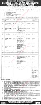 social welfare department kpk jobs project managers social welfare department kpk jobs 2016 project managers vocational teacher oral masters
