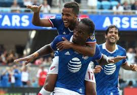 Image result for pics of drogba,s goal MLS against arsenal
