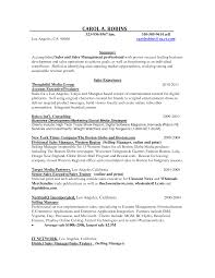 executive resume account executive resume