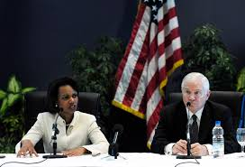 u s department of defense photo essay secretary of defense robert m gates right and secretary of state condoleezza rice