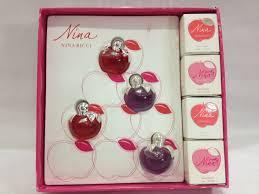 50% sale miniature perfume <b>Nina Ricci</b> Apple*4pcs (Green / Purple ...