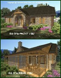 Affordable Small House Plans   Small Home Floor PlansCHP SG   AA lt br   gt Small Stone Cottage House Plan