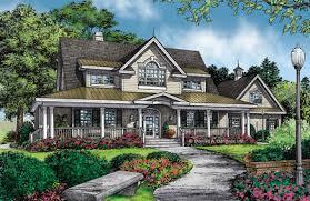 Porch   Wraparound House PlansHouse Plan The Valleygate