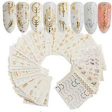 <b>30 pcs</b> Artificial Nail Tips <b>Nail Art</b> Kit Full Nail <b>Stickers nail art</b> ...