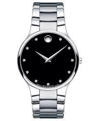 movado movado men s swiss serio diamond accent stainless steel movado men s swiss serio diamond accent stainless steel bracelet watch 38mm 0606490