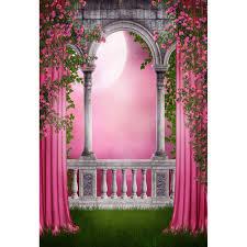 <b>Laeacco</b> Girl <b>Princess</b> Curtain Palace Moon Scene Wedding ...