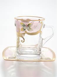 """<b>Набор чайных пар 12</b> пр """"Фонд розовая"""" D-V Bohemia Crystal ..."""
