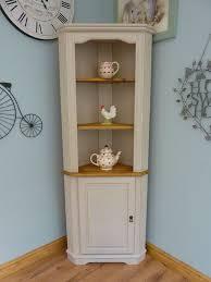 corner furniture. beautiful painted shabby chic pine corner unit storage shelves cabinet dresser furniture n