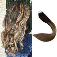 "<b>Full Shine</b> 14"" <b>Tape</b> in Hair Extensions Skin Weft Dip Dye Real Hair ..."