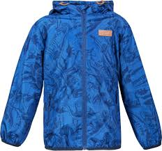 <b>Куртка для мальчика Barkito</b> синяя с рисунком динозавры ...