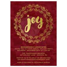 corporate holiday party invitations gilded joy gilded joy corporate holiday party invitations