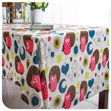 rectangular dining table cover cloth knitted vintage: fashion vintage owl pattern thick table cloth tablecloth mantel dining table cloth cover embroidered tablecloths home decor